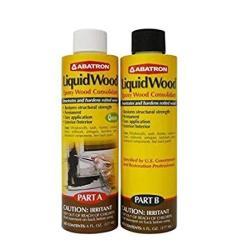 Abatron Liquidwood Kit Epoxy Wood Consolidant 6 Oz Each Part A & B