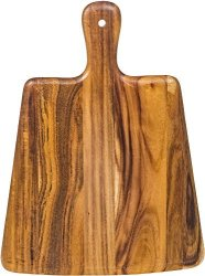 "Palais Dinnerware Acacia Cutting Board - Wooden Butcher Block 12"" X 9"" Paddle Board"