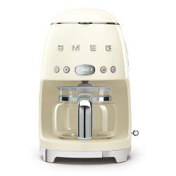Smeg 50'S Style Glossy Cream Retro Filter Coffee Machine - DCF02CRSA