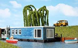 USA Busch 1439 Houseboat Blue Ho Scale Model Vehicle