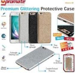 Promate GLARE-I6 Premium Glittering Protective Case Colour:gold 6959144013923