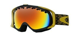 Oakley Crowbar Snow Goggles Mimic Knit Burnished Fire Iridium Medium