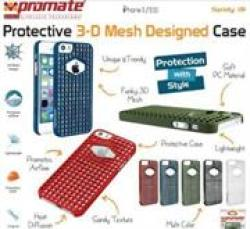 Promate SPIDY.I5 Designed Promate Protective Case For Iphone 5 5S Green Retail Box 1 Year Warranty 3-D Mesh Designed Protective