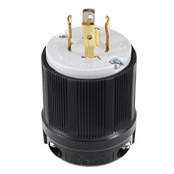 Uxcell Ul Listed Locking Plug 20A Ac 125 250V Nema L14-20P 3P 4W Industrial Grade Grouding For Generator Power Cable Us Plug Yuadon Authorized