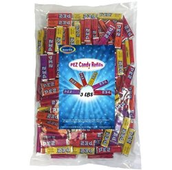 Medley Hills Farm Pez Candy Refills 3 Lbs Assorted Fruit Flavors Bulk Bag