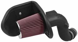 K&N Cold Air Intake Kit With Washable Air Filter: 2016-2018 Chevy opel Malibu Insignia B 2.0L L4 Black Hdpe Tube With Red Oiled