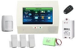 HONEYWELL Lynx Touch L7000 Starter Kit - Lynx Touch Wireless Security Alarm With 3 5816WMWH Door window Transmitters.