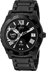 Guess Men's Stainless Steel Android Wear Touch Screen Silicone Smart Watch Color: Black Model: C1001G5