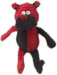 "Pet Rageous Designs, LLC Petrageous Ribrageous Reno The Rhino Dog Toy 13.5"" Red black"