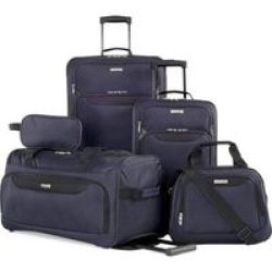 Tag Springfield 5 Piece Luggage Set - Navy