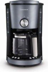 Morphy Richards Evoke 1000W Drip Filter Digital Coffee Maker 1.2L Blue