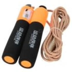 Exercise Skipping Jumping Rope With Counter - Black Orange Golden