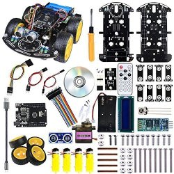 Jun Electron Smart Robot Car Kit Diy Robot Kit For Boys Adults Kids Multi Functional With Line Tracking Bluetooth Obstacle Avoid R2580 00 Other