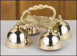 Religious Supply 4 Cup Sacristy Bell With Handle
