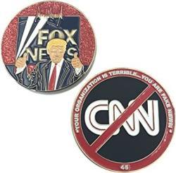 USA A-004 Trump Fake News Maga Challenge Coin Fox News Cnn Parody