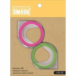 K&Company 30672741 Smash Label Maker Refills 81 2 PKG-GREEN & Pink