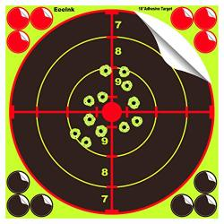 Eeelnk Splatter Targets For Shooting 10 Inch- Reactive Bright Fluorescent Yellow Shot Marking 12 Cover Patches - Airsoft Pellet