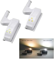 USA For Arduino-heng Module Kits Accessory Universal Inner Hinge LED Sensor Lamp 0.3W Cabinet Wardrobe Cupboard Door 3 Leds Night Light Auto Switch On off