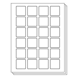 Officesmartlabels Square 1 2 X 1 2 Inch Labels For Laser & Inkjet Printers 1.5 X 1.5 Inch 24 Labels Per Sheet White 240 Labels 10 Sheets