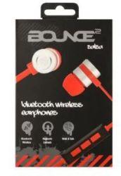 Bounce Salsa Series Bluetooth Aluminium Body Earphone - Red black - Red Black