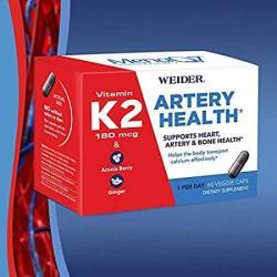 Weider Artery Health With Vitamin K2 60 Veggie Caps