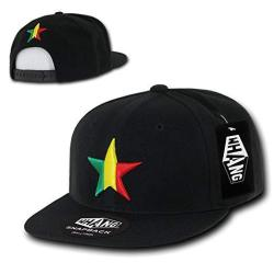 DECKY California Lone Star 3D Embroidered Flat Bill Snapback Cap - White