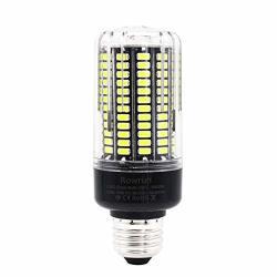Rowrun LED 15 Watt Corn Bulb Incandescent Replacement Bulb 1300LM 5736SMD 156 PCS Leds Cold White 6000-6500K E26 E27 Pack Of 1