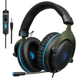Sades R3 Gaming Headset For Xbox One PC PS4 Computer Games Noise Isolation Surround Stereo Soft Earmuffs Over-ear Headphones With MIC