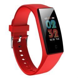 Hamtod V18 0.96 Inch Tft Ips Screen IP67 Waterproof Smart Watch Smart Bracelet Support Call Reminder Heart Rate Monitoring Sleep Monitoring Red