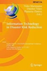 Information Technology In Disaster Risk Reduction - Second Ifip Tc 5 Dcitdrr International Conference Itdrr 2017 Sofia Bulgaria