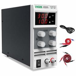 UNIROI Dc Power Supply Variable Dc Bench Power Supply With 3-DIGIT LED  Display Alligator Clip Leads Banana Plug And Spade Lugs I | R3395 00 | DIY