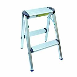 Foldable Portable Lightweight MINI 2 Step Aluminum Stool Ladder Stepladder Safe Durable
