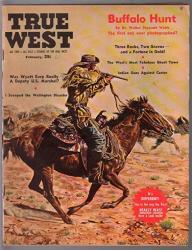 True West 2 1961-WYATT Earp-custer-buffalo Huntjoe Grandee-pulp Thrills-fn