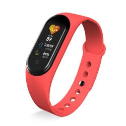 KM5 0.96INCH Color Screen Phone Smart Watch IP68 Waterproof Support Bluetooth Call bluetooth Music heart Rate Monitoring blood Pressure Monitoring Red