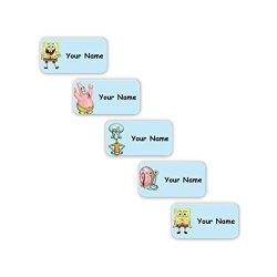 Oliver's Labels Spongebob Squarepants Personalized Waterproof No-sew Laundry Safe Stick-on Labels For Clothing Spongebob Squarepants