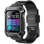 Apple Watch 4 Case 44MM 2018 Supcase Rugged Protective Case With Strap Bands For Series 4 Unicorn Beetle Pro Black