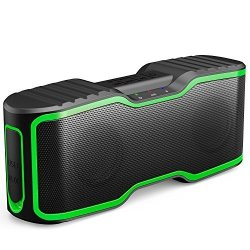 AOMAIS Sport II Portable Wireless Bluetooth Speakers Waterproof IPX7 15H Playtime 20W Bass Sound Stereo Pairing Durable Design Backyard Outdoors Travel Pool Home Party Green