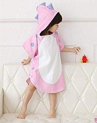 Mystery&melody Kids Dinosaur Bath Towel Breathable Warm Child Cartoon Bathrobes Polygonal Dinosaur Hooded Towel Bath Towels