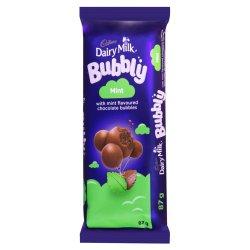 Cadbury Bubbly Slab Milk Choc 87 G
