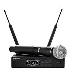 Shure QLXD24 Wireless Microphone System H50 534-598 Mhz Includes QLXD4 Digital Wireless Receiver QLXD2 Handheld Transmitter SM58 Cartridge