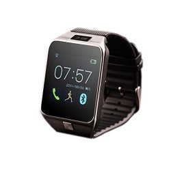 Bluetooth Smart Watch With Camera Smartwatch Touch Screen Phone Unlocked Watch With Sim Card Slot Smart Wrist Watch Silver