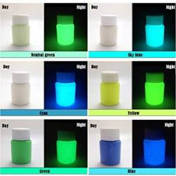 6 Color Pack Glow In The Dark Pigment Powder Epoxy Resin Color Pigment - 25G Each 150G Total