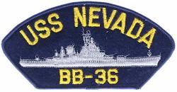 "Uss Nevada BB-36 6"" Embroidered Patch Ppmussnvadak"