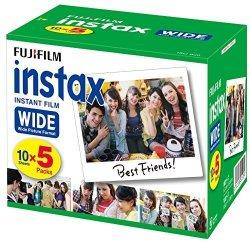 FUJIFIM Fujifilm 50 Sheets Instant Camera Wide For Film Input Instax Wide K R 5
