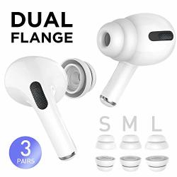 Delidigi 3 Pairs Airpods Pro Replacement Ear Tips Double Flange Silicone Earbuds Earplug Accessories Compatible With Airpods Pro