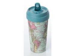 Bamboo Travel Mug 400ML Around The World