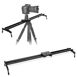 """SAILNOVO Camera Slider Aluminum Dslr Dolly Track Rail Perfect For Photography And Video Recording With 1 4"""" 3 8"""" Screw For Youtube Video And Short Filmmakers 80CM Camera Slider"""