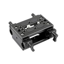 NICEYRIG Shoulder Support Baseplate With 15MM Rod Clamp Railblock For Rod Support Dslr Rig Cage